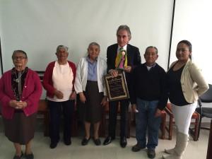 """""""El reconocimiento de la gente humilde es el que me interesa"""", dice Albericio, quien estos días recibe homenajes en Urcuquí, Imbabura."""