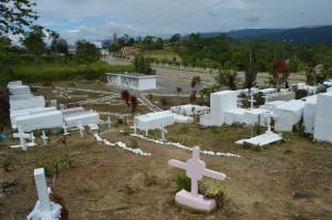 José Tendetza fue enterrado dos veces. La segunda en el cementerio de El Pangui que aparece en la gráfica. Foto: La Historia