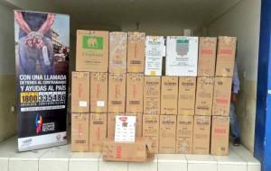 Mil paquetes de cigarrillos chinos decomisados en Machala, a fines de julio.
