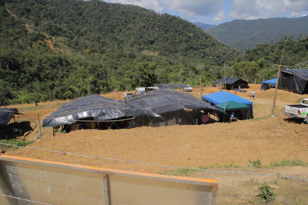Campamento minero en la comunidad de Nankints. Foto de Braulio Gutiérrez.
